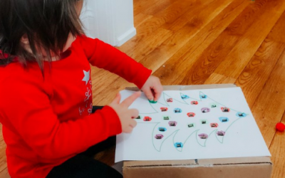 Christmas Pom Pom Push for Babies and Toddlers