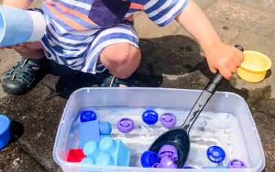 Toy Water Scoop Sensory Bin
