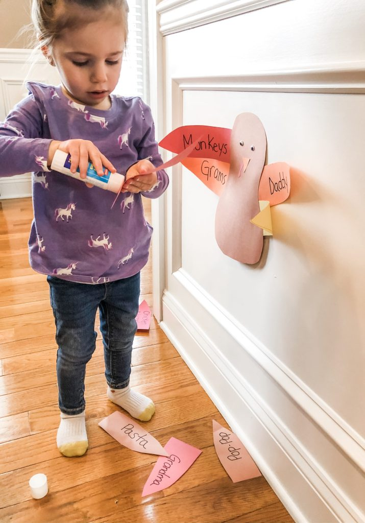 Try this thankful turkey Thanksgiving activity for your toddler or preschooler. Practice their cutting skills, learning colors, and being grateful.