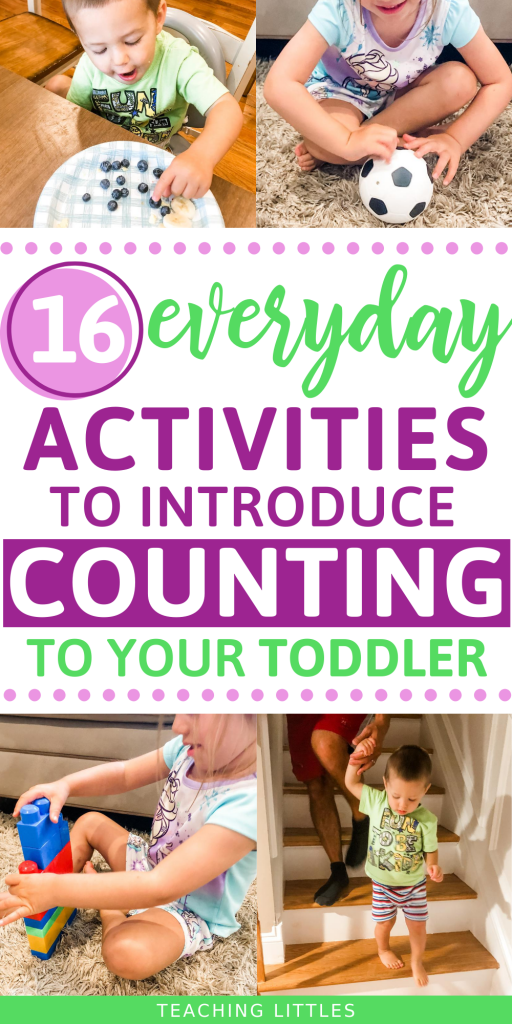 Use these simple everyday activities to teach your toddler about numbers and counting. Start them young for early understanding of how to count.