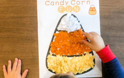 Candy Corn Tissue Paper Toddler Fine Motor Activity