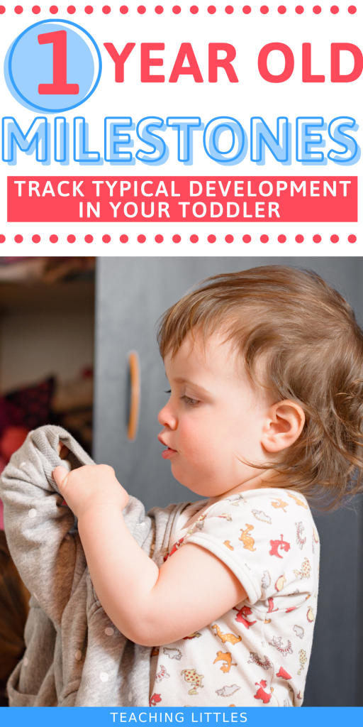 Typical 1 year old milestones are present as your toddler approaches one. There are fine & gross motor skills, language, & social skills.