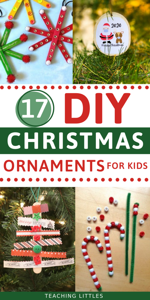 Since Christmas is right around the corner, I thought it would be a perfect time to do a fun round-up of some of the easiest DIY Christmas ornaments for kids.
