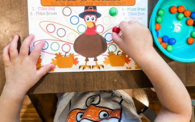 Thanksgiving Table Game for Preschoolers