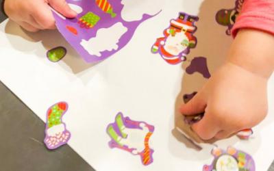 Christmas Sticker Toddler Fine Motor Activity