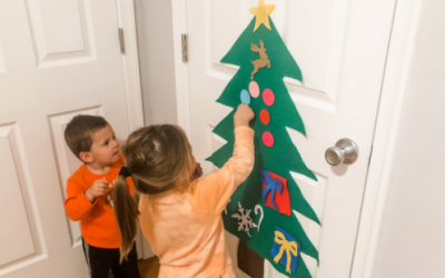 Felt Christmas Tree Activity for Toddlers