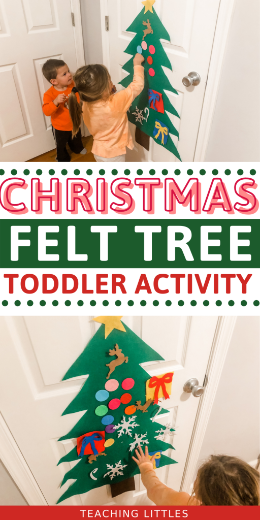 With a felt Christmas tree, your toddler can have their own tree to decorate all season long and you don't have to worry about a mess!