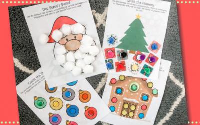 Christmas Dot Activities Free Printable