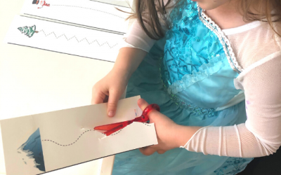 Free Printable Winter Cutting Strips for Preschool