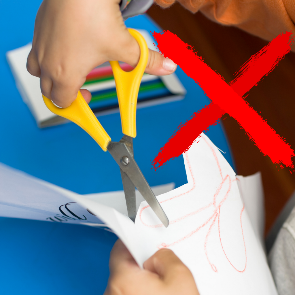 Get these free printable winter cutting strips for your preschooler to practice cutting and easily learn how to cut with safety scissors