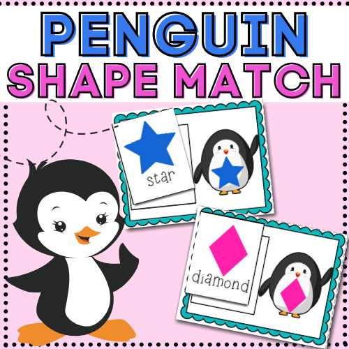 Teach your toddler or preschooler their shapes as they learn to match with this fun, low-prep, winter and fine motor activity