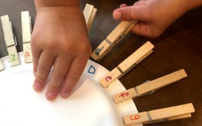 Clothespin Letter Match Preschool Activity