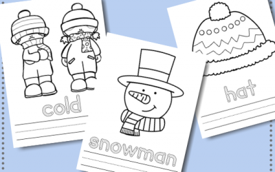 Winter Color and Write Free Printables