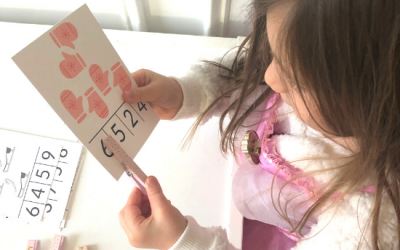 Free Printable Winter Counting Clip Cards for Preschool