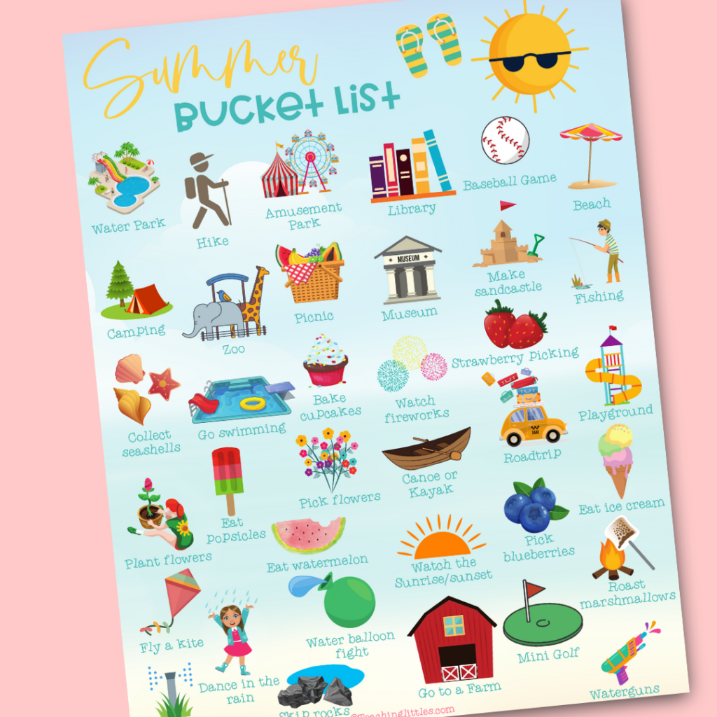 One of our favorite things to do each summer is to compile a bucket list of activities! Here is a summer bucket list for you!