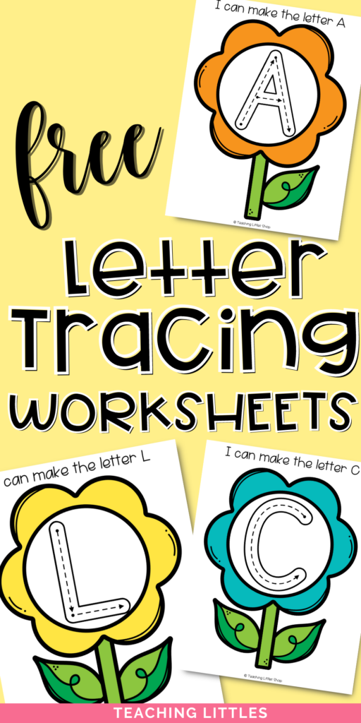 Help your preschooler practice letter formation with this spring flower free printable. Use sensory materials to write, draw, & trace letters