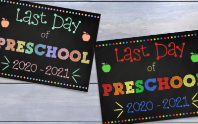 Free Printable First and Last Day of Preschool Signs