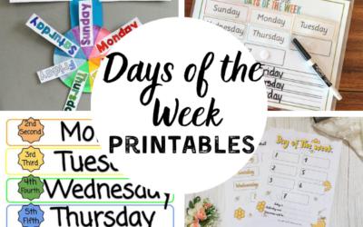 16 Days of the Week Printables for Preschoolers and Kindergarteners