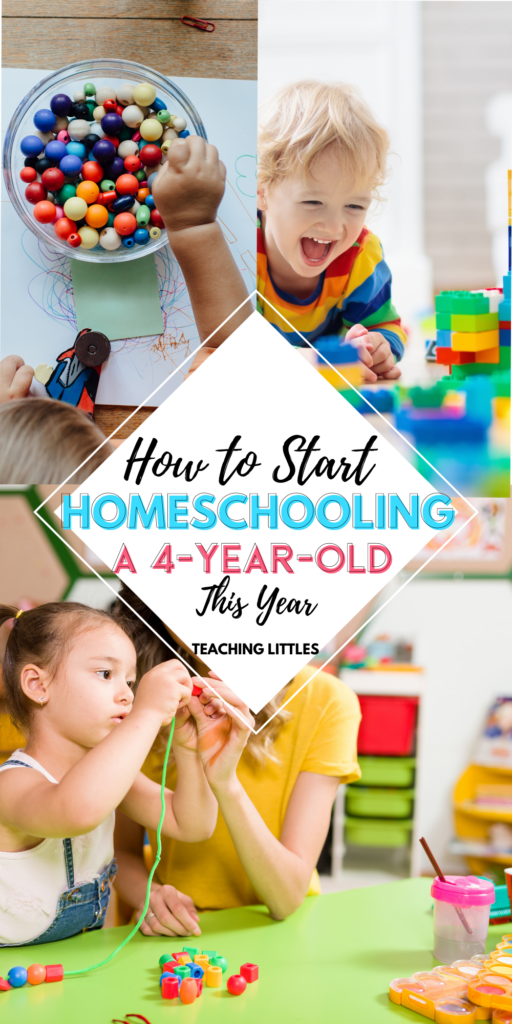Do you want to homeschool a 4-year-old? It's easier than you imagine; here is what you need to know to get started this year.