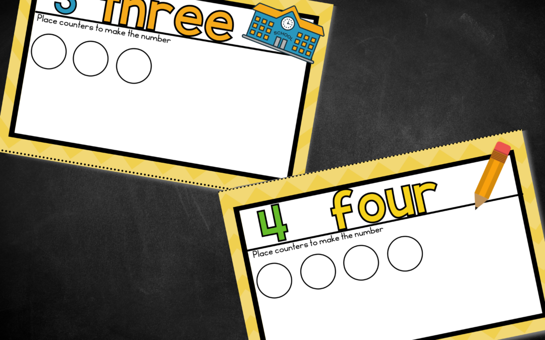 First Week of Preschool or Pre-K Counting Mats (Free Printable)