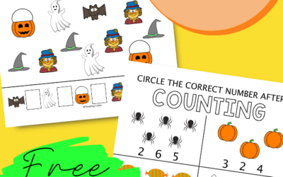 Halloween Counting Printables: Free Printables for Preschoolers