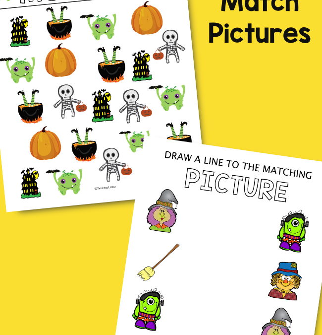 Halloween Picture Matching Printables